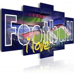 Murando DeLuxe Pìtidílné obrazy - fotbal lásky