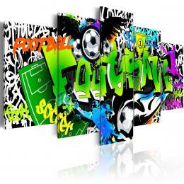 Murando DeLuxe Pìtidílné obrazy - fotbalové graffiti