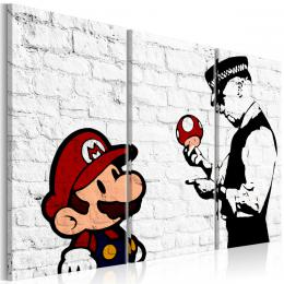 Murando DeLuxe Tøídílný obraz - Mario Bros