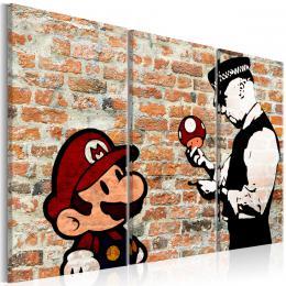 Murando DeLuxe Vícedílný obraz - policajt s animovanou postavou