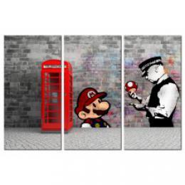 Murando DeLuxe Vícedílný obraz - èervená telefonní budka Velikost  60x40 cm