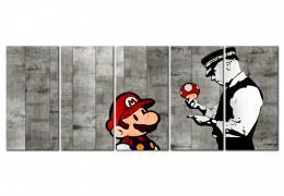 Murando DeLuxe Vícedílný obraz - graffiti na betonu Velikost  150x60 cm
