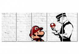 Murando DeLuxe Vícedílný obraz - graffiti na cihle Velikost  225x90 cm
