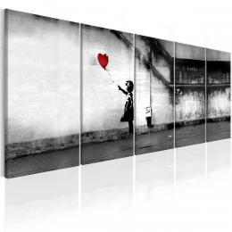Murando DeLuxe Vícedílný obraz - holèièka s balónem