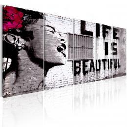 Murando DeLuxe Obraz - život je krásný Velikost  125x50 cm