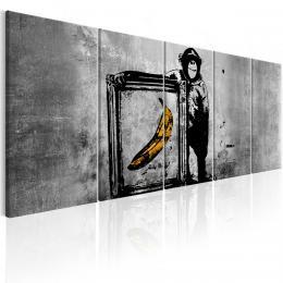 Murando DeLuxe Obraz - opièák s banánem Velikost  225x90 cm