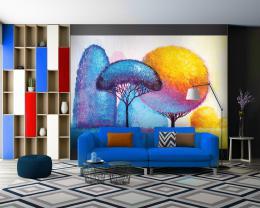 InSmile ® Tapeta barevné stromy Vel. (šíøka x výška)  144 x 105 cm - zvìtšit obrázek
