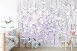 InSmile ® Tapeta 3D odkvétající hortenzie Vel. (šíøka x výška)  144 x 105 cm