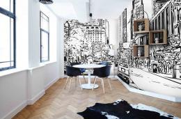 InSmile ® Tapeta skica New York City Vel. (šíøka x výška)  144 x 105 cm - zvìtšit obrázek