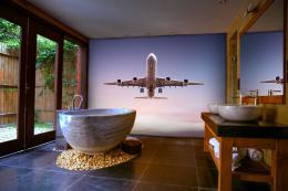 InSmile ® Tapeta letadlo vzlétá Vel. (šíøka x výška)  144 x 105 cm - zvìtšit obrázek