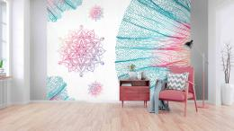 InSmile ® Tapeta mandala v pastelech Vel. (šíøka x výška)  144 x 105 cm