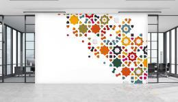 InSmile ® Tapeta na stìnu barevné tvary Vel. (šíøka x výška)  144 x 105 cm - zvìtšit obrázek