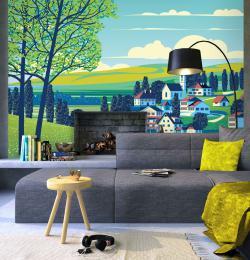 InSmile ® Tapeta malovaná vesnice Vel. (šíøka x výška)  144 x 105 cm - zvìtšit obrázek