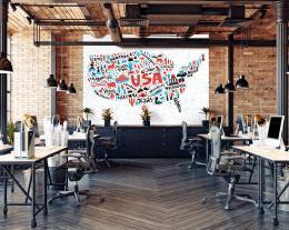 InSmile ® Tapeta grafická mapa USA Vel. (šíøka x výška)  144 x 105 cm