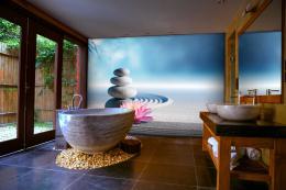 InSmile ® Tapeta meditaèní kameny a lotos Vel. (šíøka x výška)  144 x 105 cm