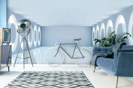InSmile ® 3D Tapeta místnost s kruhy na bocích Vel. (šíøka x výška)  144 x 105 cm