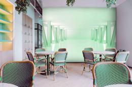 InSmile ® 3D tapeta místnost zelená Vel. (šíøka x výška)  144 x 105 cm