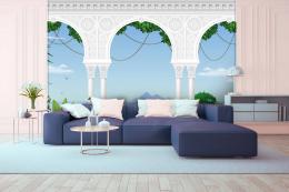InSmile ® 3D tapeta krajina za sloupy  - zvìtšit obrázek