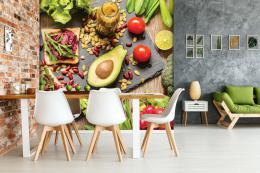 InSmile ® Tapeta do kuchynì zelenina, avokádo Vel. (šíøka x výška)  144 x 105 cm - zvìtšit obrázek