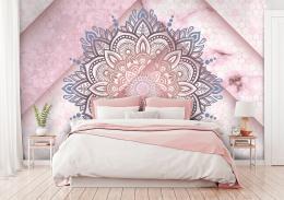 InSmile ® Tapeta mandala s hexagony Vel. (šíøka x výška)  144 x 105 cm