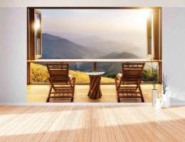 InSmile ® 3D tapeta okno s výhledem Vel. (šíøka x výška)  144 x 105 cm