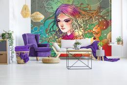 InSmile ® Vliesová tapeta dívka Vel. (šíøka x výška)  144 x 105 cm - zvìtšit obrázek