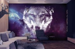 InSmile ® Tapeta vesmírný vlk Vel. (šíøka x výška)  144 x 105 cm