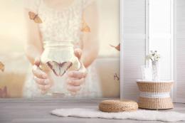 InSmile ® Tapeta Motýl v lahvi Vel. (šíøka x výška)  144 x 105 cm - zvìtšit obrázek