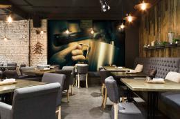 InSmile ® Tapeta káva pøíprava Vel. (šíøka x výška)  144 x 105 cm - zvìtšit obrázek