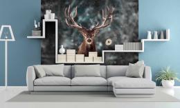 InSmile ® Tapeta Jelen v zimì Vel. (šíøka x výška)  144 x 105 cm - zvìtšit obrázek
