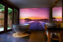 InSmile ® Tapeta Maledivy pøi západu slunce Vel. (šíøka x výška)  144 x 105 cm - zvìtšit obrázek