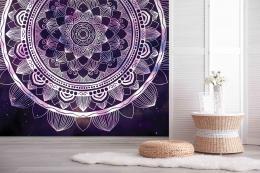 InSmile ® Tapeta Fialová mandala Vel. (šíøka x výška)  144 x 105 cm