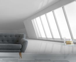 InSmile ® 3D tapeta Bílá místnost Vel. (šíøka x výška)  144 x 105 cm