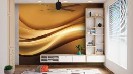InSmile ® Abstraktní tapeta zlatá vlna Vel. (šíøka x výška)  144 x 105 cm - zvìtšit obrázek