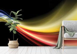 InSmile ® Abstraktní tapeta barevná vlna Vel. (šíøka x výška)  144 x 105 cm - zvìtšit obrázek