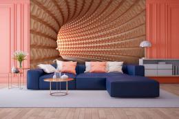 InSmile ® Tapeta 3D Abstrakt tunel Vel. (šíøka x výška)  144 x 105 cm - zvìtšit obrázek