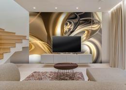 InSmile ® Tapeta Abstrakt gold Vel. (šíøka x výška)  144 x 105 cm - zvìtšit obrázek