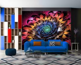 InSmile ® Tapeta Abstraktní kvìtina Vel. (šíøka x výška)  144 x 105 cm - zvìtšit obrázek