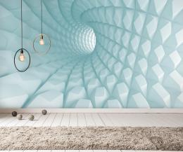 InSmile ® 3D tapeta mentolový tunel Vel. (šíøka x výška)  144 x 105 cm