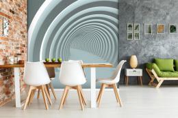 InSmile ® Tapeta Abstrakt tunel white Vel. (šíøka x výška)  144 x 105 cm