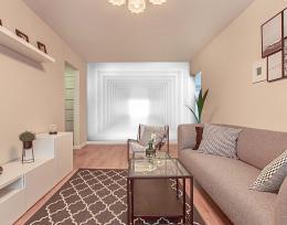 InSmile ® Tapeta 3D bílá chodba Vel. (šíøka x výška)  144 x 105 cm