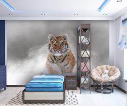 InSmile ® Tapeta Snìžný tygr Vel. (šíøka x výška)  144 x 105 cm - zvìtšit obrázek