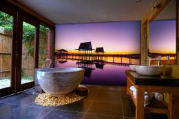 InSmile ® Tapeta Západ slunce na molu Vel. (šíøka x výška)  144 x 105 cm - zvìtšit obrázek