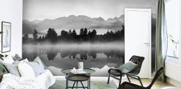 Malvis Tapeta èernobílé horské jezero Vel. (šíøka x výška)  144 x 105 cm