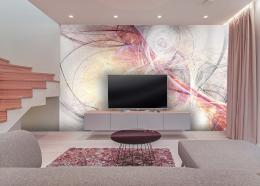 InSmile ® Tapeta jemné abstrakce Vel. (šíøka x výška)  144 x 105 cm