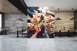 InSmile ® Tapeta veèer s pøáteli Vel. (šíøka x výška)  144 x 105 cm - zvìtšit obrázek
