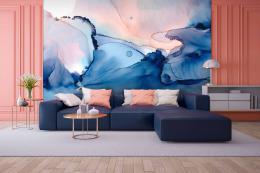 InSmile ® Tapeta modrá abstrakce malba Vel. (šíøka x výška)  144 x 105 cm - zvìtšit obrázek