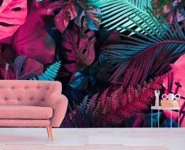 InSmile ® Tapeta neonové listy Vel. (šíøka x výška)  144 x 105 cm - zvìtšit obrázek