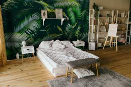 InSmile ® Tapeta palmové listy Vel. (šíøka x výška)  144 x 105 cm - zvìtšit obrázek