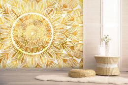 InSmile ® Tapeta mandala slunce Vel. (šíøka x výška)  144 x 105 cm
